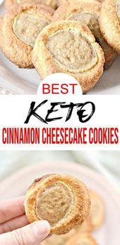{Keto Cookies} Einfache einfache Zutat Zimt Käsekuchen Kekse, die Sie wollen …