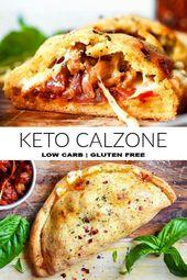 * NEU * Dieses Keto Calzone zu essen ist wie das schuldige Vergnügen eines …