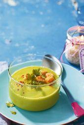 Kalte Erbsen-Avocado-Suppe   – Sounds delicious!