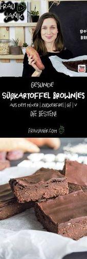 Gesunde Süßkartoffel Brownies
