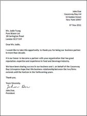 Modified Block Business Letter Format Business Letters Business