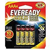 Eveready Gold Alkaline Batteries Aaa 4 Count Alkaline Battery Aaa 10 Things