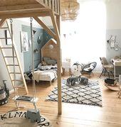 Kinderzimmer mit Schaukel – leider geil.