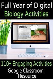Digital Biology/Life Science Bell-Ringer or Review Activities (FULL YEAR)