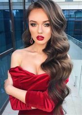 Side Part Long Wavy Human Hair Full Lace Women Wig 28 Inches This picture has … – Side Part Long Wavy Human Hair Full Lace …