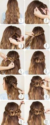 60 Schritt-für-Schritt-Anleitungen für Frisuren von mittlerem bis langem Haar …