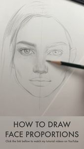 How to draw a face. Face proportions by Nadia Coolrista  – YouTube