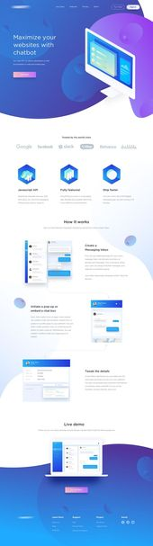 Landing page uxui #appdesign #chatbots