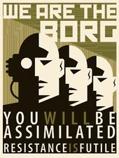 Image result for star trek borg you will be assimilated