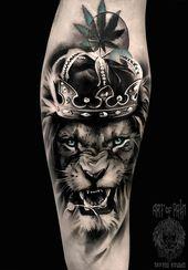 Crown Tattoo auf der Hand realistisch von Anastasiya Krohotnaya – #Anastasiya #crown #Ha …
