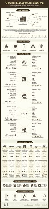 Cuál es el CMS que más te conviene #infografia #infographic #internet