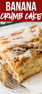 Banana Crumb Cake   – I Wash You Dry :: Desserts ::