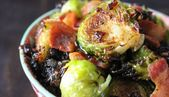 Crispy Buffalo Brussels Sprouts   – Healthy fiber foods