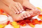 Fußpflege im Bett stock photo. Bild der Aromatherapie, Maniküre – 10316486
