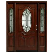 Asian Pacific Products Inc. Delux Mahogany Prehung Front Entry Doors With Sidelights Door Orientation: Left Hand/Inswing