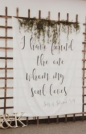 Calligraphy Wedding Tapestry