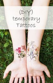 2 temporäre Tattoos ein Mandala-Kompass / Kompass Tattoo Mandala / fake Tattoo / tattoo Boho / Kompass Tattoo / tattoo-Mandala – Tattoos