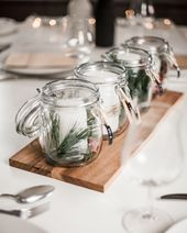 Upcycling: Advent wreath in preserving jars