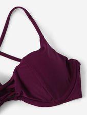 Criss Cross – Bügeloberteil mit hochgeschnittenem Bikini #Ad, #Sponsored, # Underwire # Cros …