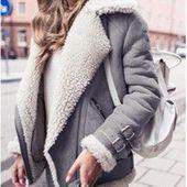 New Turnover Collar Short Fur Winter Warm Women's Coat