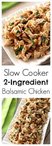 Slow Cooker 2-Ingredient Balsamic Chicken