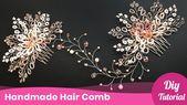 How to make the wedding hair comb. DIY Craft tutorial idea