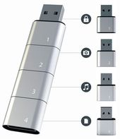 Stackable USB Flash Drive Permits Just about Limitless Reminiscence