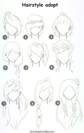 Fantastic How To Draw Hair Step By Step Image Guides) –  Nice How To Draw Hair S…