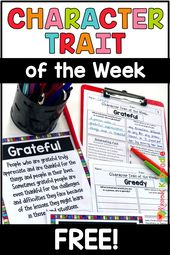 FREE Character Trait of the Week Actions