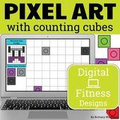 Fitness Theme Digital Pixel Art