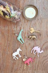 Nette DIY Schlüsselketten, die Sie vom Verlust Ihrer Schlüssel stoppen