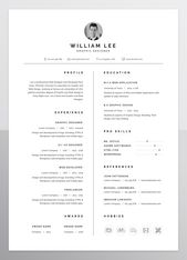 Illustrator Resume a simple, clean, minimal and professional design of Resume/CV template for peopl...