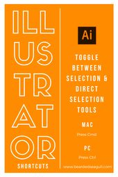 Illustrator Shortcuts  A handy Adobe Illustrator keyboard shortcut to quickly toggle between the select...