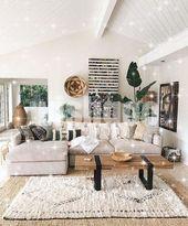 Außergewöhnliche Dekoideen für das Wohnzimmer im Frühling und Sommer – #Auß…