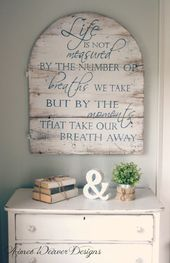 Details about  /British handmade wooden sign Happiness is not measured by the breaths!