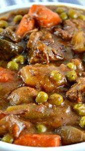 Crockpot estofado de ternera   – Yum