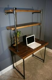 DIY Schreibtisch Holz Metallpfeife 67+ neue Ideen – #Desk #DIY #ideas #Metal #Pipe #Wood