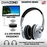 Sharper Image Own Zone Wireless Rechargeable Tv Headphones Rf Connection 2 4 Ghz Transmits Wirelessl Headphones For Tv Wireless Headphones For Tv Headphones