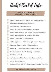 Herbst Bucket Liste: 15 Dinge um den Herbst zu genießen, inkl. Freebie zum Download