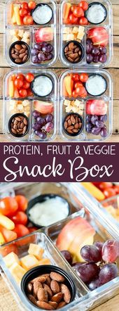 Einfache Mahlzeit Prep Bistro Snack Box   – diet