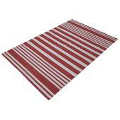 Turkish Handmade Handgefertigter Teppich in Rot/Weiß Blue Elephant