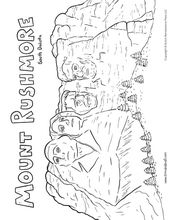 Mount Rushmore Coloring Page Printable Coloring Pages Mount
