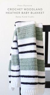 Free Pattern – Crochet Woodland Heather Baby Blanket #baby blanket #hakeln #heat
