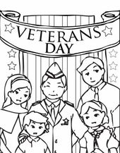 The Stars and Stripes on Cemetary Veterans Day Coloring Page ...