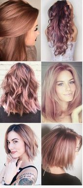 Fabulous rose gold hair color 2017