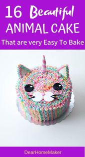 16 Best Animal Birthday Cake Designs for Kids Party –  Baking
