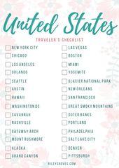 Reisecheckliste der Vereinigten Staaten von Amerik…