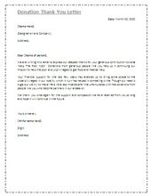 Download The Donation Thank You Letter Template From VertexCom