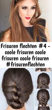 Braiding hairstyles # 4 – cool hairstyles cool hairstyles cool hairstyles #styling hairstyles #frisuren #f 5