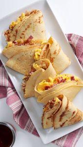 Bacon and Egg Pancake Pockets   – yummy
